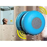 Mini Wireless Bluetooth Speaker Portable Waterproof Shower Speakers for Phone MP3 Bluetooth Receiver Hand Free Car Speaker (Blue)
