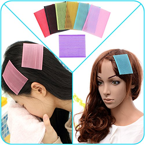 Magic Colorful - QY 7PCS Colorful Magic Bangs Hair Pad Square Hair  Pad Hair Fringe Care Tool Makeup Accessories