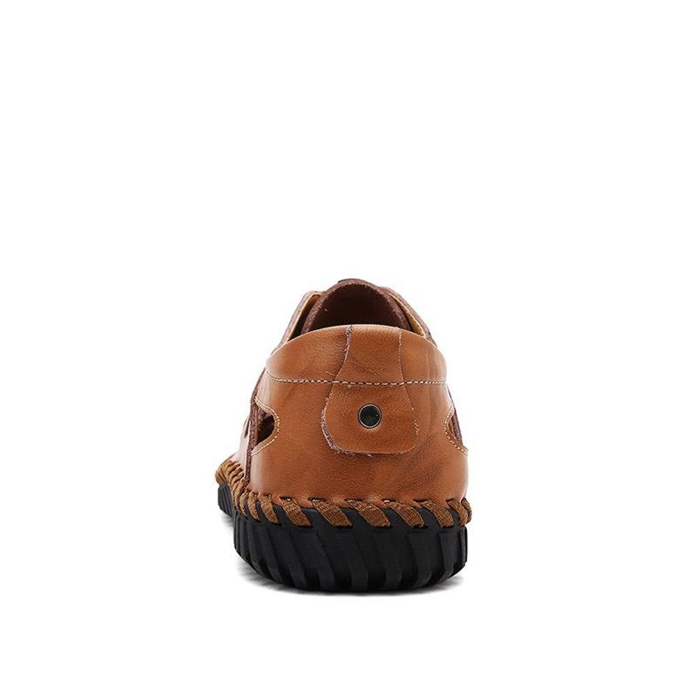 Jiuyue-schuhe, Flacher Absatz der Männer Modische Hohle Sandelholze Beleg : auf Schuhen,Herren Sandalen (Farbe : Beleg Schwarz, Größe : 42 EU) Yellow Braun b31ee0
