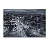 Trademark Fine Art Madrid City Lights by Javier De La, 22x32-Inch Canvas Wall Art