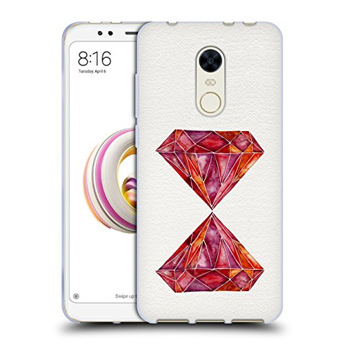 Gem Rub - Official Cat Coquillette Ruby Watercoloured Gems Soft Gel Case for Xiaomi Redmi Note 5/Redmi 5 Plus