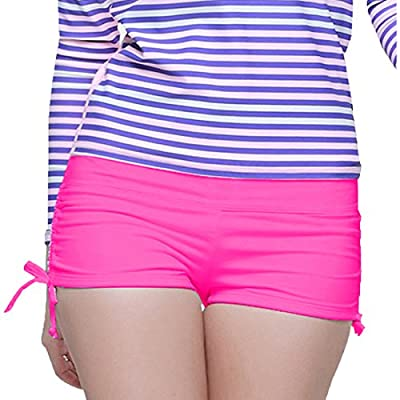 Sandbank Women's Swim Brief with Adjustable Ties Mini Short Swimwear
