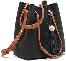 99b67bdae1167 Turelifes Tassel buckets Totes Handbag ...