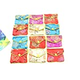 Pack Of 12 Jewellery Jewelry Silk Purse Pouch Gift Bag Bags HOT,Random Color