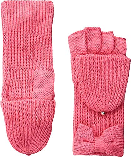 Kate Spade New York Women`s Stripe Convertible Knit Mittens (Fleur De Lis(679)/Gold, One Size)