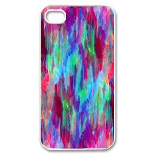 abstract mixed watercolor Case For iPhone 4/4s White