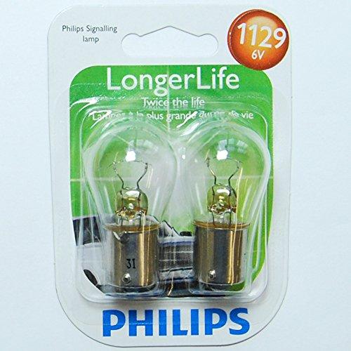 1129 Miniature - Philips 1129 LongerLife Miniature Bulb, 2 Pack