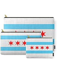 Society6 Chicago Flag Carry-All Pouch