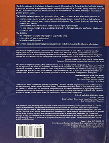 Geriatric Nursing Review Syllabus