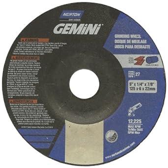 Pack of 25 Aluminum Oxide Gobain 66252842183 5//8 Arbor 5//8 Arbor 4 Diameter x 1//4 Thickness Type 27 St Pack of 25 4 Diameter x 1//4 Thickness Norton Gemini Aluminum Depressed Center Abrasive Wheel