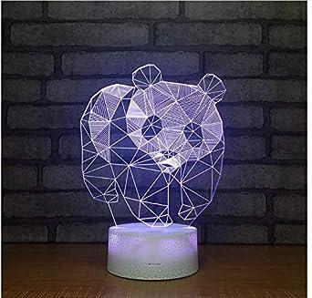 National Treasure Panda 3D Led Night Light Fashion Illusion ...