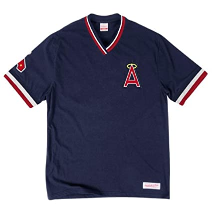 6ccd19c6a Mitchell   Ness Los Angeles Angels of Anaheim MLB Men s Overtime Win  Vintage Tee 2.0 (