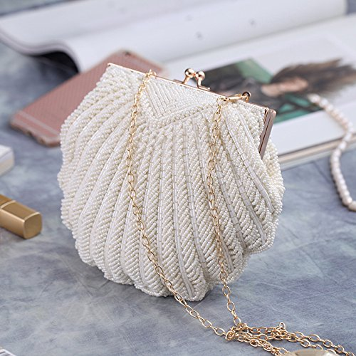 Clutch Clutches Ladies Bag Party Banquet Bag Beaded Shell Handbags Off Bag Prom Folds Evening Purse Type q1Rwqdrx