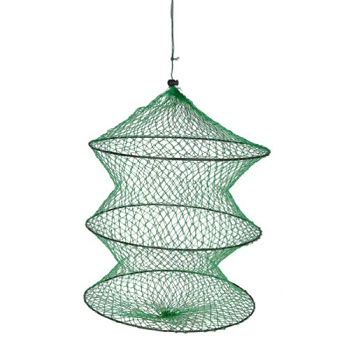 Green Folding 2 Section Crab Lobster Fish Basket Fishing Net (Lobster Basket)