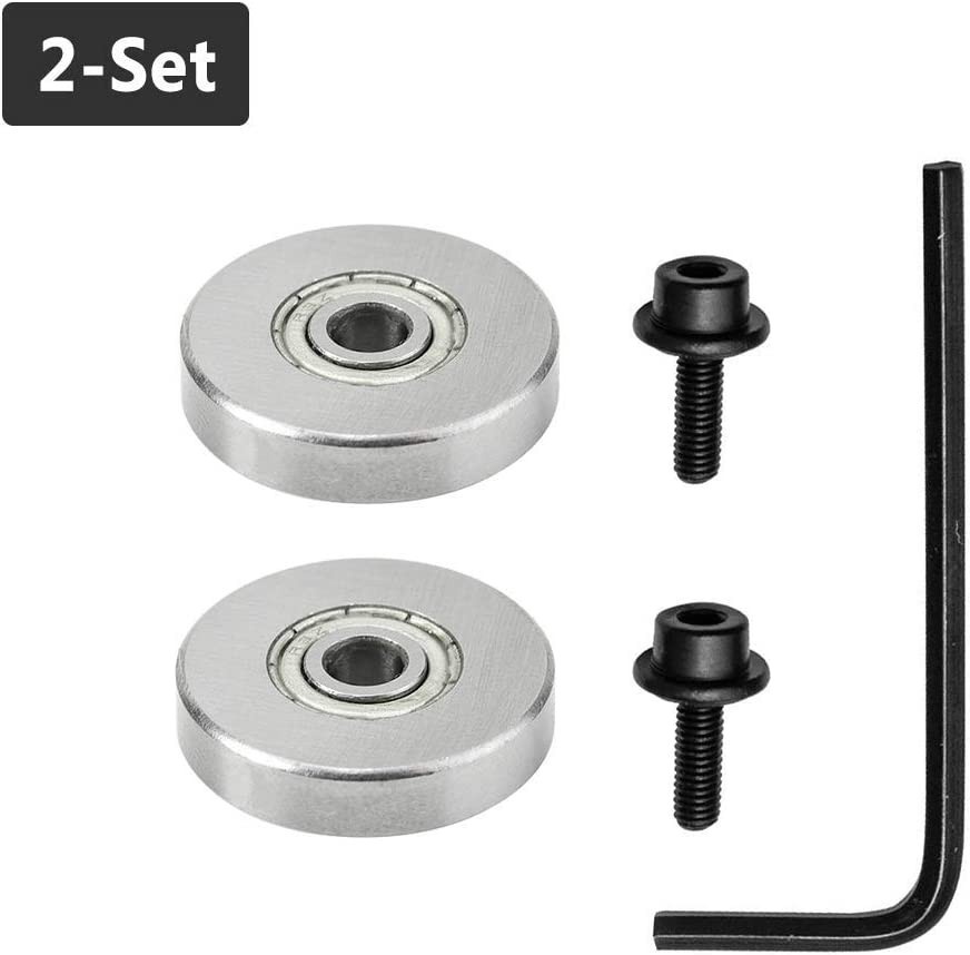 1//4 Gasea 5 Set Router Bit Replacement Bearings Bottom Mounted Bearing Guide with Stop Rings for 1//4-Inch Shank Router Bit Inner Dia 1//2 Outer Dia