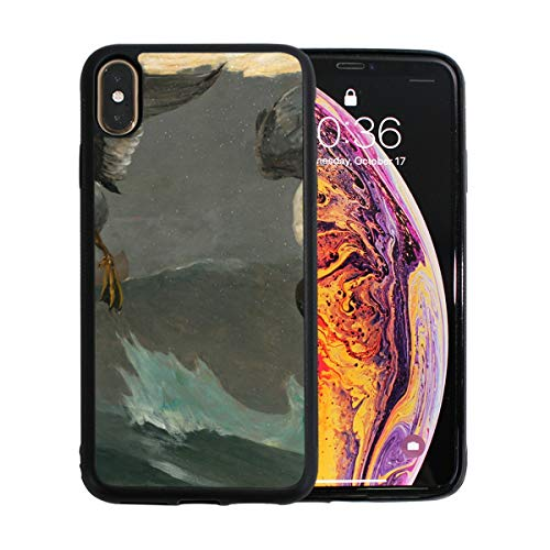 iPhone Xs Max Case,Funny Oil Painting Duck TPU Anti Scratch Protective Cover,Compatible Cell Phone Cases,Printed Shockproof Protector