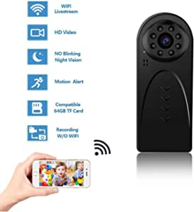 GXSLKWL HD 1080P Hidden Camera, Mini WiFi Spy Camera Wireless Hidden for Home Office Security with Night Vision Motion Detection Body Camera Recording Indoor Outdoor Nanny Cam Phone/PC Remote View
