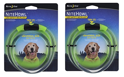 Nite Ize Safety necklace Collar Color:Green Pack of 2