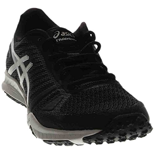 ASICS Women's FuzeX TR Cross-Trainer Shoe, Black/White/Silver, 6 M US