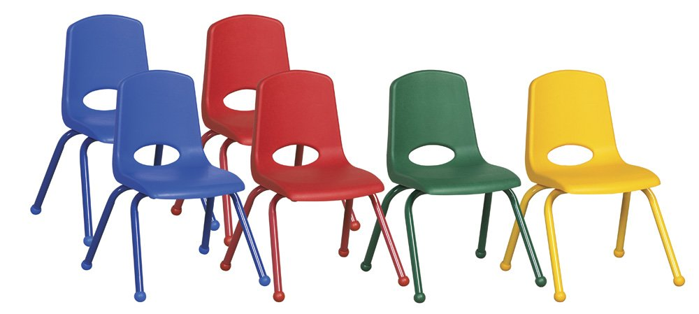 6-Pc Stack Chair Set with Steel Lower Back Support