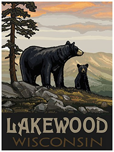 Lakewood Wisconsin Travel Art Print Poster by Paul A. Lanquist (18