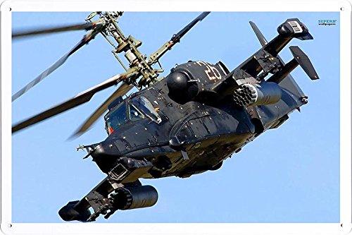 Aircraft Tin Sign Kamov Ka 50 Black Shark 8084 by Waller's Decor (7.8