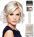 Bundle - 5 Items: Modern Motif Wig by Gabor, Christy's Wigs Q & A Booklet, 2oz Travel Size Wig Shampoo, Wig Cap & Wide Tooth Comb - Color: GL8-10