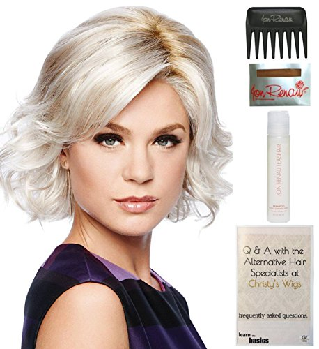 Bundle - 5 Items: Modern Motif Wig by Gabor, Christy's Wigs Q & A Booklet, 2oz Travel Size Wig Shampoo, Wig Cap & Wide Tooth Comb - Color: GL8-10 by Gabor & Christy's Wigs