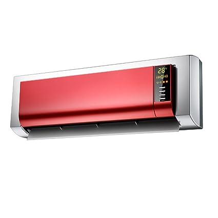 YIXINY Termoventiladores y calefactores cerámicos KPT-2503L Control Remoto Colgar De La Pared Pantalla LCD