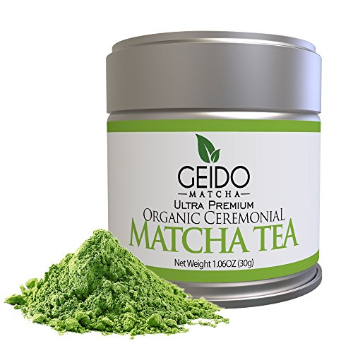Geido Matcha Green Tea Powder - Premium, Organic, Best Taste...