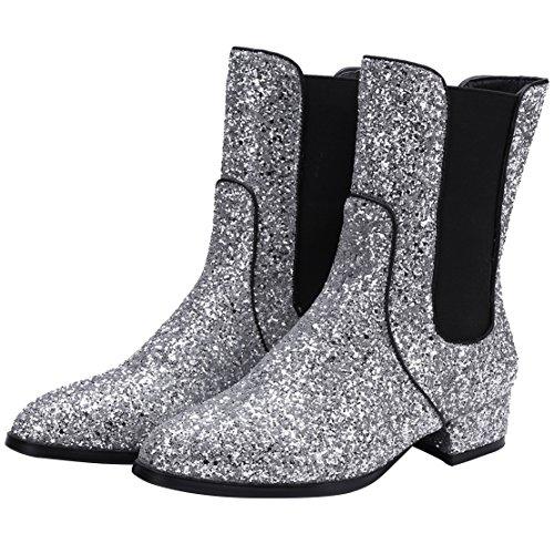 Women's Boot Classic AIYOUMEI Silver Women's AIYOUMEI Silver AIYOUMEI Classic Boot w5qZv0Y