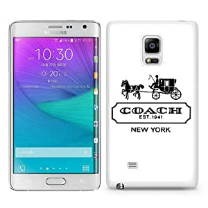 Beautiful Samsung Galaxy Note Edge Cover Case ,Newest And Durable Designed Case With Coach logo 2 White Samsung Galaxy Note Edge Case Unique And Cool Phone Case