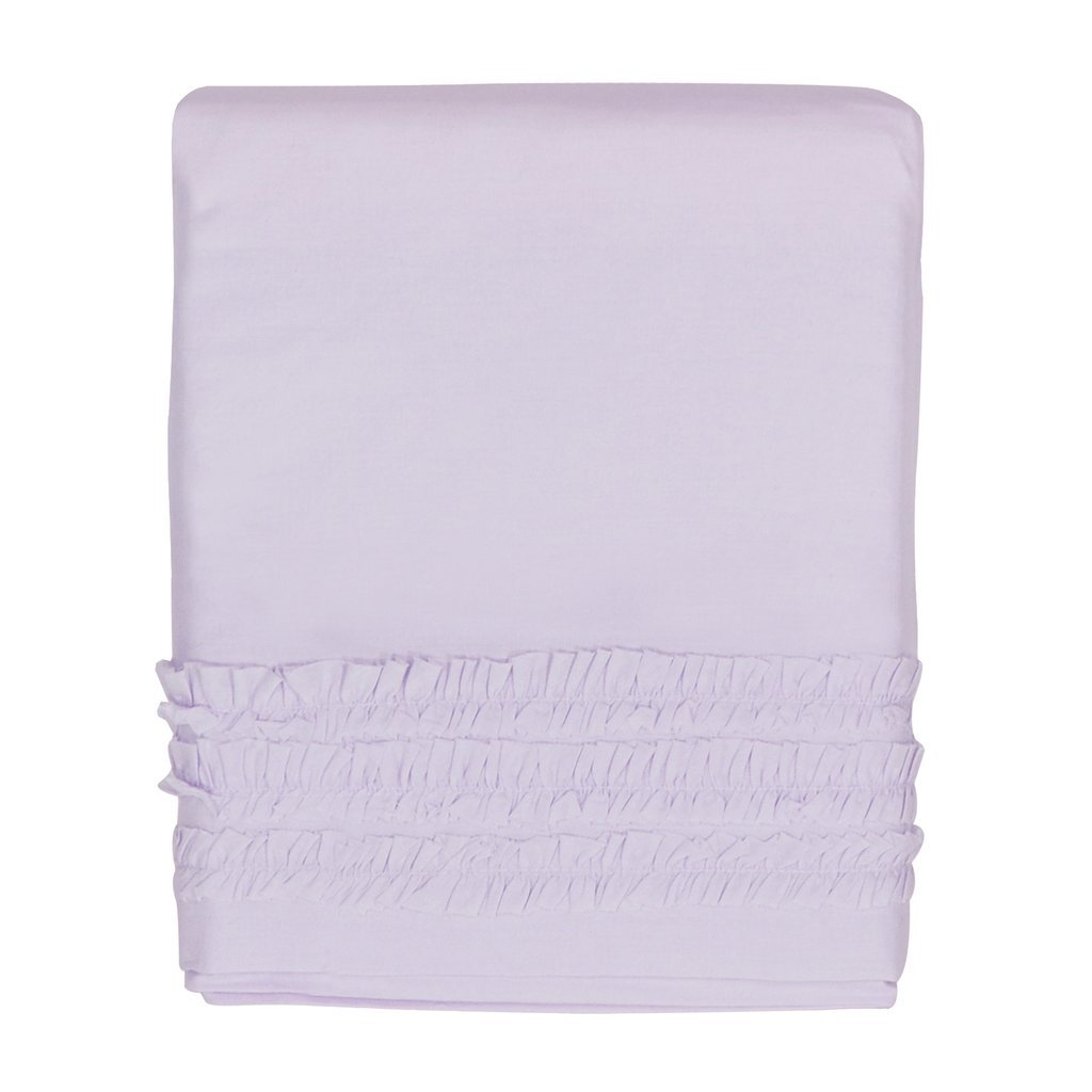 Hello Spud - Crib Skirt Petite Ruffle LAVENDER Cotton - 15 Inch Drop HS-CSKT-000025