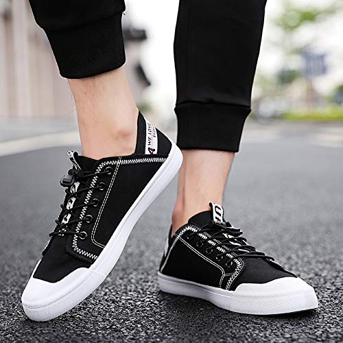 Canvas Autumn Sneakers Color Shoes Men Breathable Student Nanxieho And Stitching Lace Winter Leisure qI8ddv