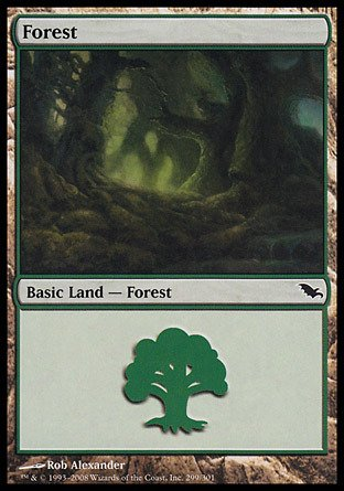 Magic: the Gathering - Forest (299) - Shadowmoor - Foil