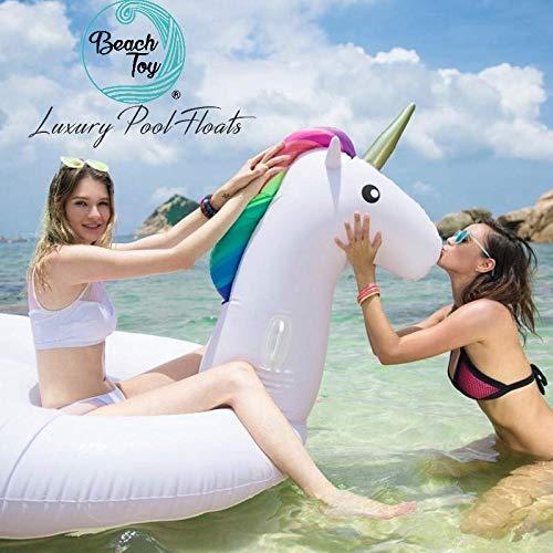 beachtoy colchón inflable gigante flotador gigante unicornio colchón hinchable Fun 270 x 120 x 140 cm