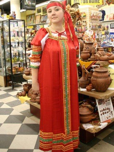 Traditional Russian Folk Costumes (Alyonushka Sundress (Red) by Bestavantage)
