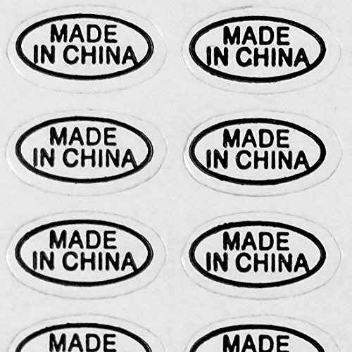 1,000+ Made in China Stickers White Glossy Self Adhesive Labels by IntelGifts. Show Country of Origin on China Imported Products