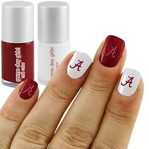 Amazon.com: Alabama Crimson Tide 2-Pack Nail Polish Kit