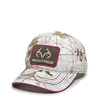 Realtree Xtra Snow Canvas Camo Hat - Adjustable Baseball Cap for Women