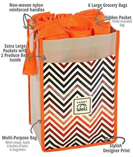 Chevron Pattern Tote Bags - 7