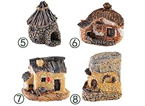 8 Styles Micro Cottage Landscape Decoration For Resin Crafts Stone House Fairy Garden Miniature Craft