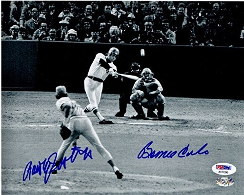 Bernie Carbo and Rawly Eastwick Autographed Signed Boston Red Sox 1975 World Series Home Run 8x10 inch Photo PSA/DNA Authentic ()