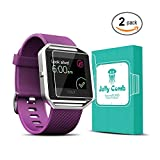 Jelly Comb Screen Protector for Fitbit Blaze Smart Watch, Tempered Glass 2.5D, HD Ultra Clear Film (2 Pack)