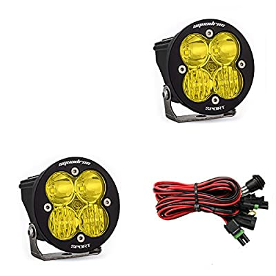 Baja Designs, 587813, LED Light, Squadron-R Sport, Black, Driving/Combo, Amber, Pair: Automotive