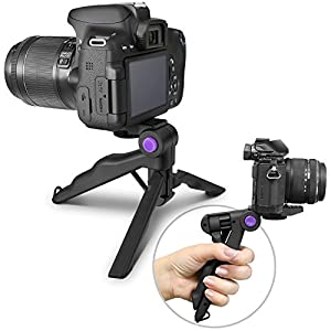 (2018 Update) Altura Photo Mini Tripod Tabletop Stand w/ Soft Pistol Grip for DSLR, Audio Recorder and Video