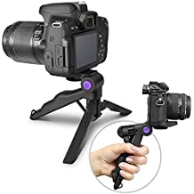 (2018 Update) Altura Photo Mini Tripod Tabletop Stand w/Soft Pistol Grip for DSLR, Audio Recorder and Video