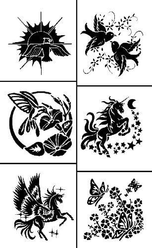 Armour Etch Rub N Etch Stencil Fliers 5-Inch by 8-Inch