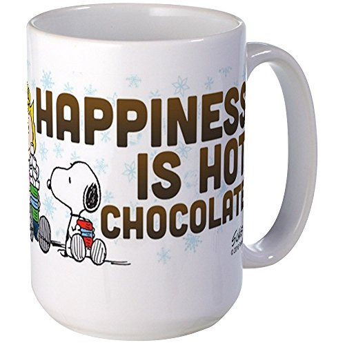 (CafePress Peanuts Hot Chocolate Mugs Coffee Mug, Large 15 oz. White Coffee Cup)