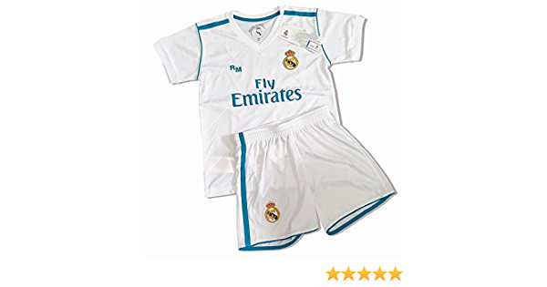 Kit Infantil Primera Equipación Replica Original Dorsal Sergio Ramos: Amazon.es: Deportes y aire libre